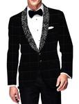 Mens Slim fit Casual Black Sports Jacket Shawl Lapel