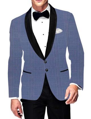 Mens Slim fit Casual Sky Blue Blazer sport jacket coat Two Button Partywear