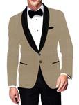Mens Slim fit Casual Beige Checks Blazer sport jacket coat Shawl Lapel