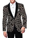 Mens Slim fit Casual Black Velvet Blazer sport jacket coat Partywear