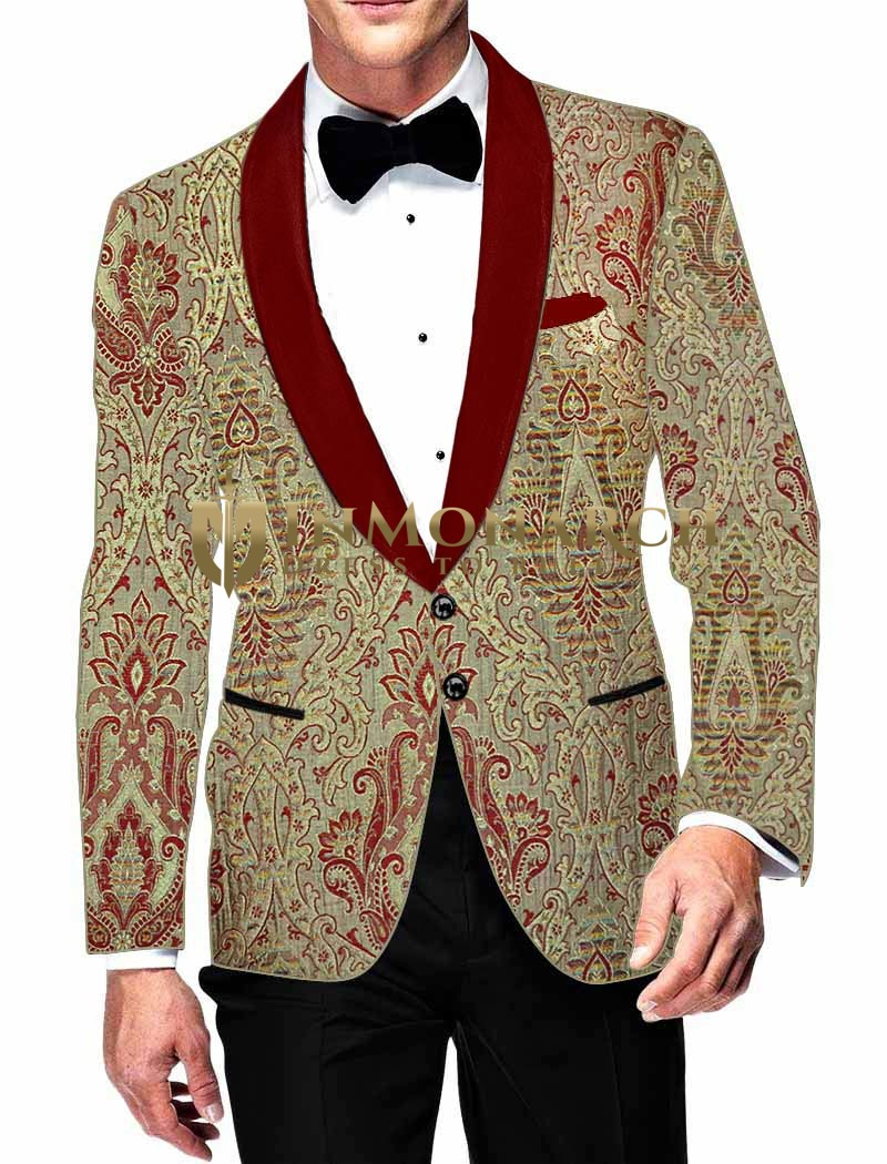 Mens Golden fashionable Suit jacket | Blazer