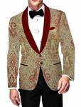Mens Slim fit Casual Light Green Blazer sport jacket coat Stylish Red Design