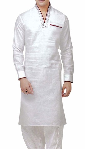 Mens Kurta Pajama White Linen Kurta Pyjama Sherwani Indian Clothes