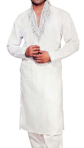 Indian Clothes for Men White Linen Kurta Pyjama for Wedding Sherwani