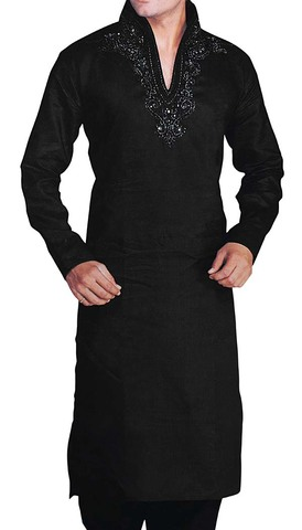 Kurta Pajama for Men Black Kurta Pyjama High Neck Kurta Pajama
