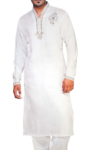 Sherwani for Men White Kurta Pyjama Designer Work Kurta Pajama