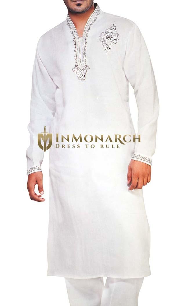 Sherwani for Men White Kurta Pyjama Designer Work Kurta Pajama