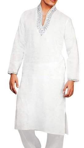 Sherwani for Men White Kurta Pajama Linen Kurta Pyjama Handmade