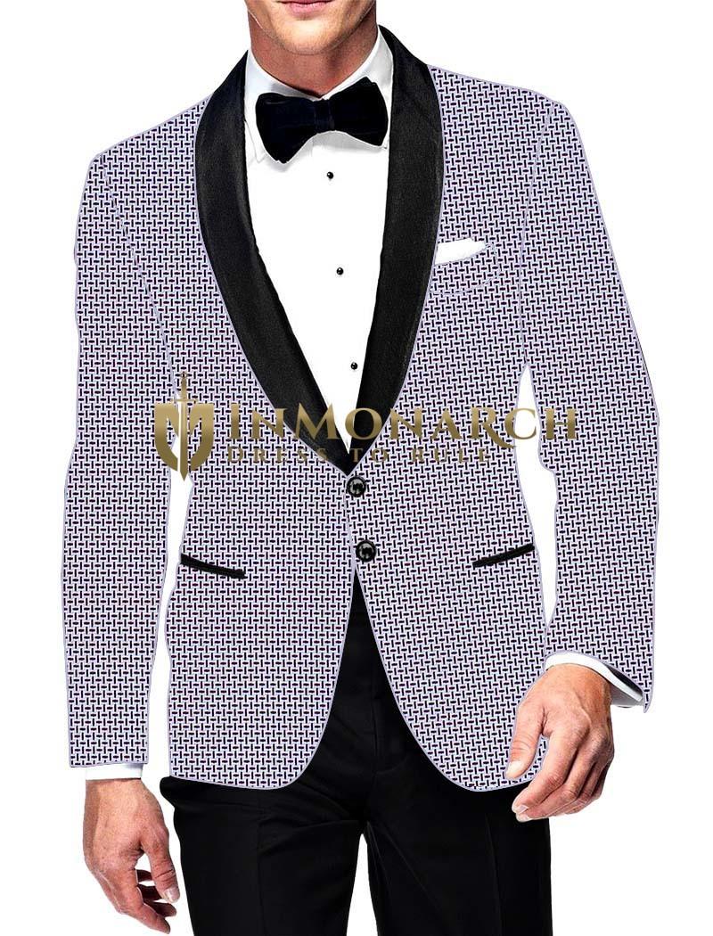 Mens Slim fit Casual White Cotton Blazer sport jacket coat Purple Desh