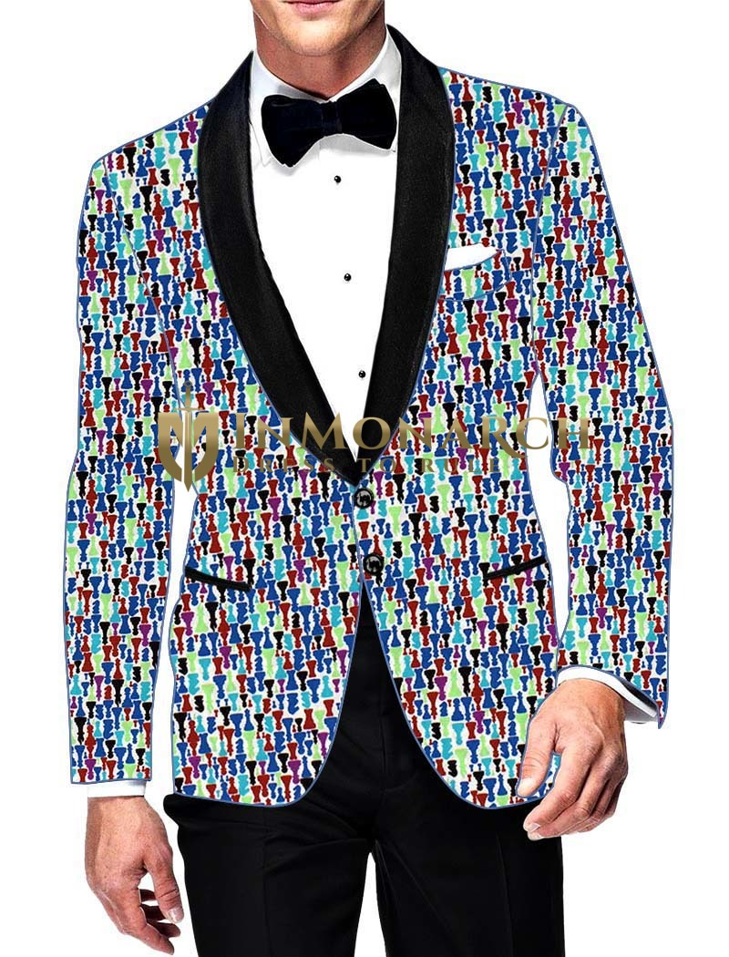 Mens Slim fit Casual Blue Cotton Blazer sport jacket coat Multi Designs