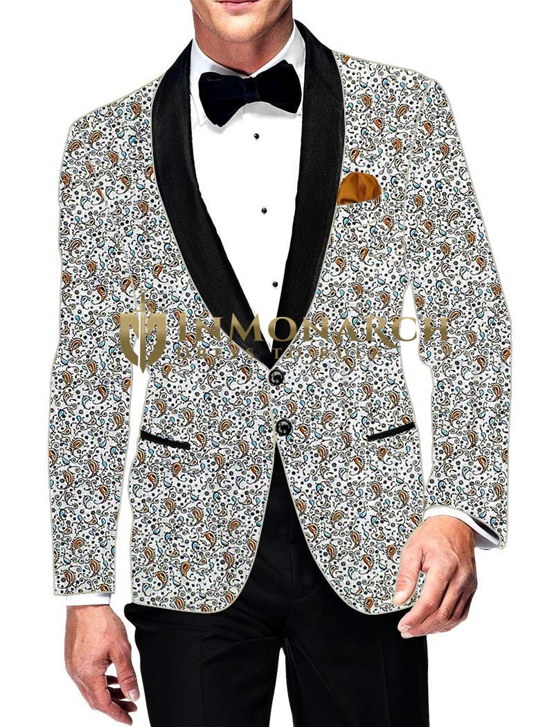 Mens Slim fit Casual Cream Cotton Blazer sport jacket coat Partywear