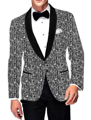 Mens Slim fit Casual Gray Cotton Blazer sport jacket coat Designer Design