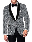 Mens Slim fit Casual Gray and Blue Cotton Blazer sport jacket coat Formal