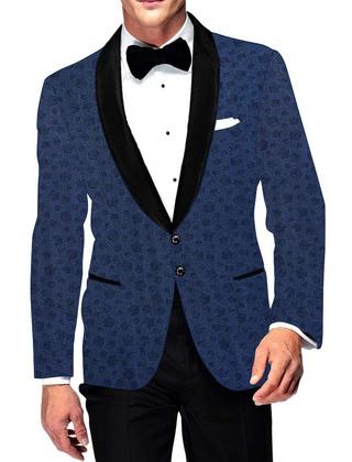 Mens Slim fit Casual Steel Blue Cotton Blazer sport jacket coat Wedding