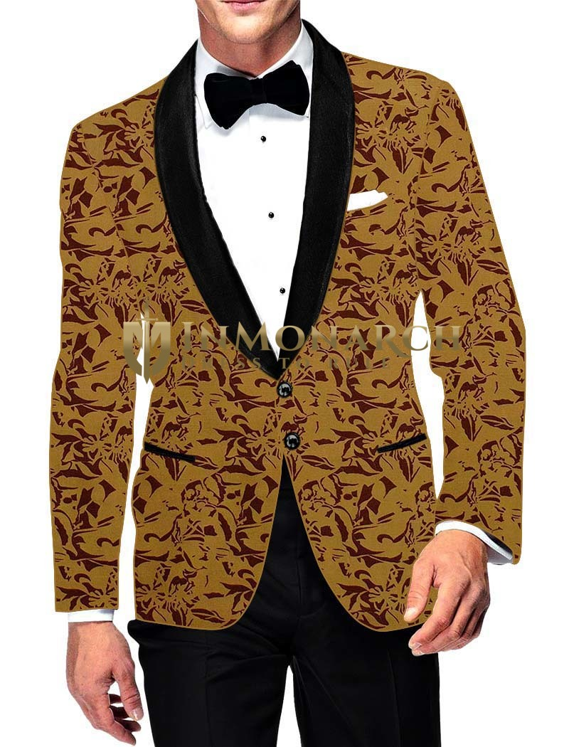 Mens Slim fit Casual Yellow Cotton Blazer sport jacket coat Indian Wedding