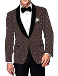 Mens Slim fit Casual Brown Printed Cotton Blazer sport jacket coat Sport Jacket