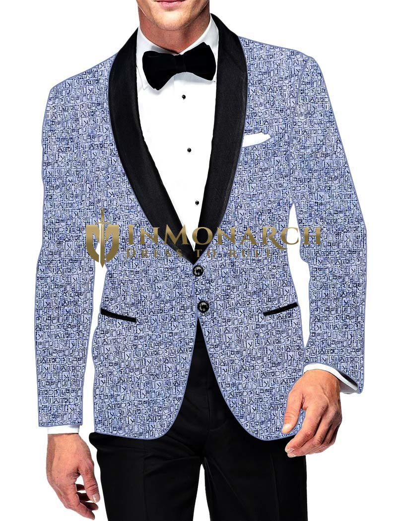 Mens Slim fit Casual Sky Blue Cotton Blazer sport jacket coat Stylish Look
