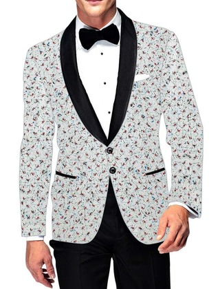 Mens Slim fit Casual White Cotton Blazer sport jacket coat for Groomsman