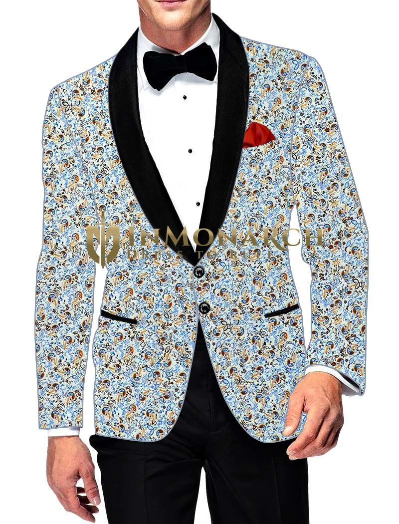 Mens Slim fit Casual Sky Blue Cotton Blazer sport jacket coat Partywear