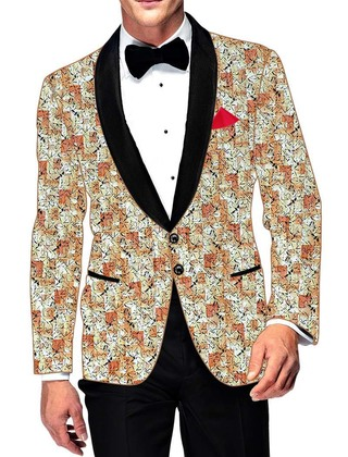 Mens Slim fit Casual Beige Cotton Blazer sport jacket coat Indian Wedding