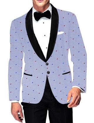 Mens Slim fit Casual Lavender Cotton Blazer sport jacket coat Bridegroom
