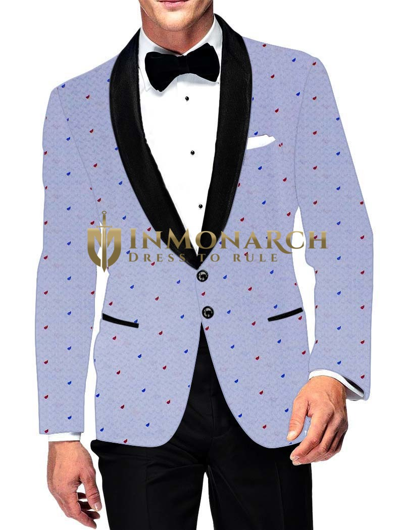 Mens Slim fit Casual Lavender Cotton Blazer sport jacket coat Bridegroom