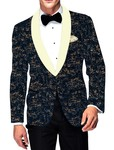 Mens Slim fit Casual Dark Navy Cotton Blazer sport jacket coat Partywear