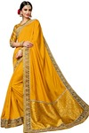 Indian Dual Tone Silk Yellow Saree