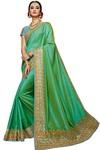 Bridal Dual Tone Silk Light Green Saree