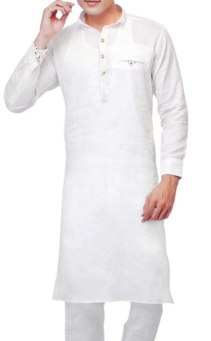 Sherwani for Men White Kurta Pyjama Stylish Linen Kurta Pajama