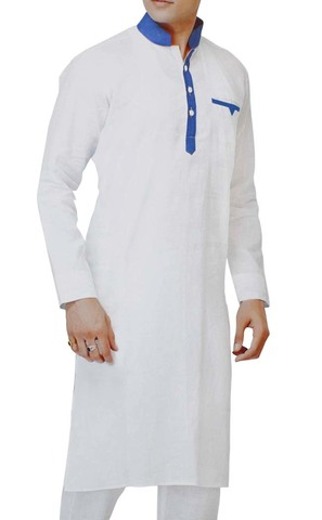 Kurta Pajama for Men White Kurta Pyjama Nehru Collar Linen Kurta Pajama