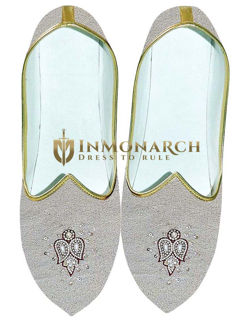 Mens Natural Wedding Shoes Embroidered MJ0704