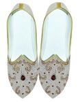 Mens Sherwani Shoes Cream Wedding Shoes For Groom