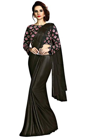 Black Fancy Knit Partywear Saree
