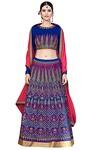 Royal Blue Art Silk Designer Lehenga