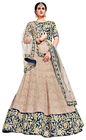 Royal Art Silk Ivory Lehenga Choli