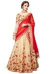 Ivory Handloom Silk Lehenga Style Saree