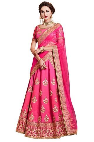 Light Pink Handloom Silk Lehenga Saree