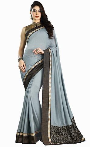 Aqua Blue Shimmer Wedding Saree