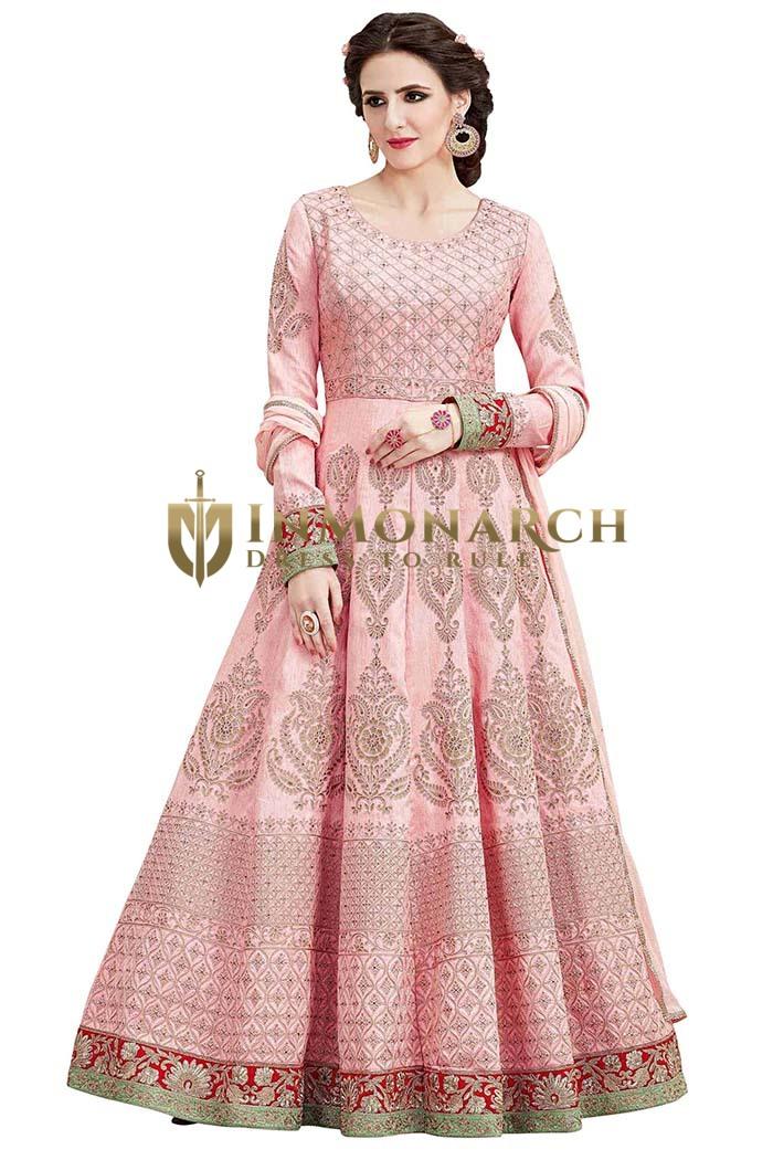 Pink Australian Fabric Anarkali Suits