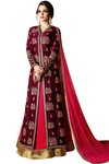 Indian Magenta Georgette Anarkali Suit