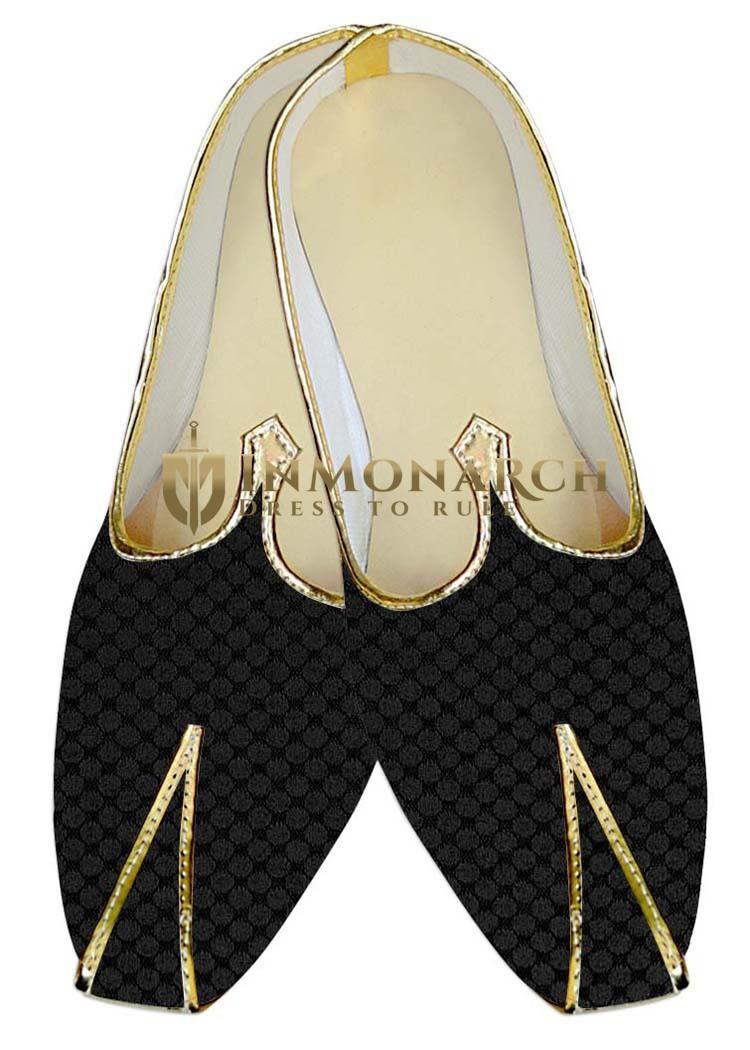 Mens Indian BridalShoes Gray Wedding Shoes Floral Design Indian WeddingShoes