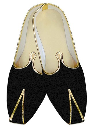 Mens Indian BridalShoes Black Wedding Shoes For Reception