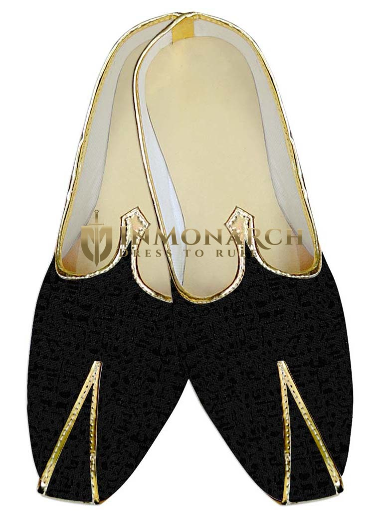 Mens Indian Bridal Shoes Black Wedding Shoes For Reception