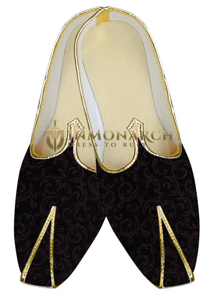 Indian Mens Shoes Black Wedding Shoes Wine Design Mens Juti