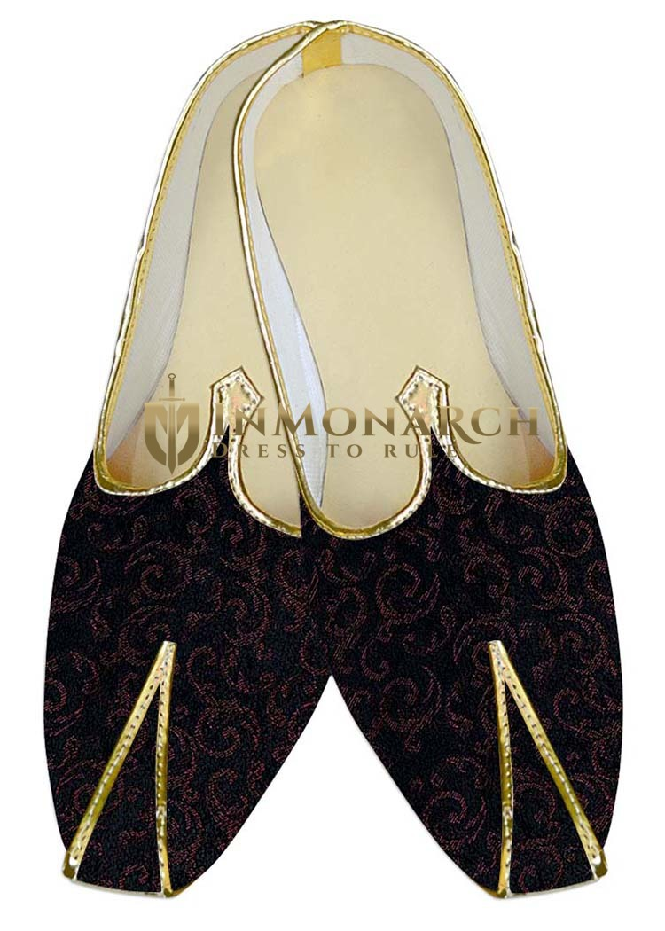 Mens Juti Dark Navy Wedding Shoes Traditional Sherwani Shoes