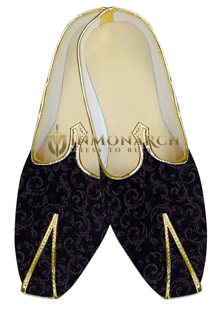 Mens Sherwani Shoes Black Wedding Shoes For Partywear Juti For Men