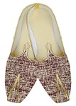 Mens Wedding Shoe For Groom Beige and Maroon Wedding Indian Bridal Shoes