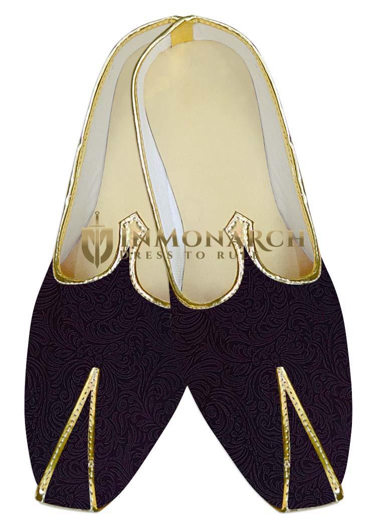 Mens Purple Wine Wedding Shoes Traditional Look MJ014158