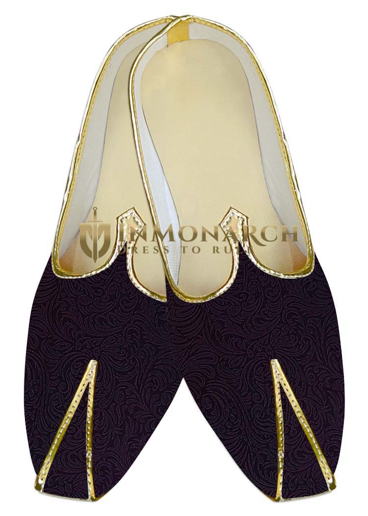 TraditionalShoes For Men Purple Wine Wedding Shoes Traditional Look